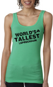 Women's World's Tallest Leprechaun Tank Top Funny Sleeveless Tee for St Pattys S