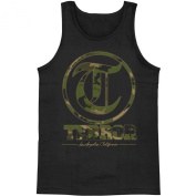 Terror Men's Camo Black Mens Tank Large Black