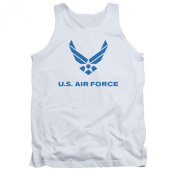 Air Force Men's Distressed Logo Mens Tank White