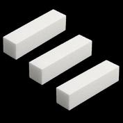 3 Pcs White Buffer Buffing Sanding Block File Manicure Pedicure For Nail Art