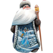G. Debrekht Yuletide Snow Maiden Hand-Painted Wood Carving