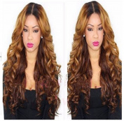 LongOu sexy long big wave of chemical fibre highlights fashion wig
