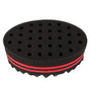 Beauty7 Oval Double-sided Two in One Professional Magic Twist Sponge Hair Brush for Twists, Afros, Coils, Dreadlocks