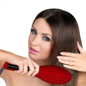 Straight Styler Hair Straightening Salon Brush with Temperature Control by Hot & Straight