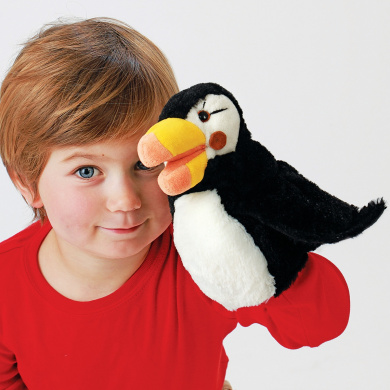 Hand Puppet - Folkmanis - Little Puffin New Animals Soft Doll Plush Toys 3027