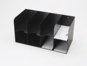 MMF 266166404 4 On 4 Double -Tier Cheque Separator- 8 Pocket- Black