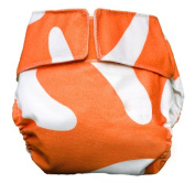 CuteyBaby All in One Modern Cloth Nappy, Orange Graphic