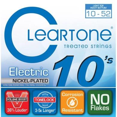 Cleartone Electric Guitar Strings - Light Top / Heavy Bottom