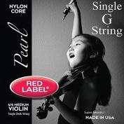 Red Label Pearl Violin Strings - Medium 4/4 Scale - Single G String