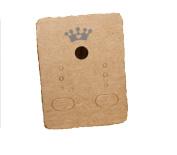 100pcs crown kraft paper earring hang tags,jewellery display card,earring price tags 3.8X5cm