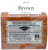 0.5kg, Artists Quality, Oil Based Modelling Clay in Brown
