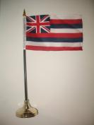 10cm x 15cm Hawaii Hawaiian State Flag Desk Set with Gold Base