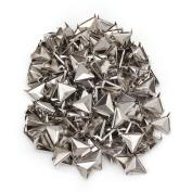 Silver Triangle Pyramid Studs Spike Rivet Craft Punk Tacks Nailhead Pack of 200