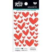 Illustrated Faith Basics Enamel Heart Stickers-Apple Of My Eye