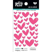 Illustrated Faith Basics Enamel Heart Stickers-One In A Melon