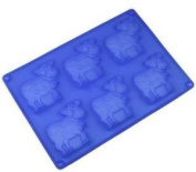 6 Cows Silicone Cake Baking Mould Cake Pan Muffin Cups Handmade Soap Moulds Biscuit Chocolate Ice Cube Tray DIY Mould