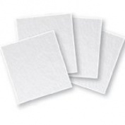 "4"" Thin (2mm) Clear Fusible Glass Squares, 90 COE - 4 Pack"