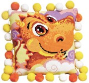 Riolis cross stitch kit 1215 Little Dragon Cushion STICKPACKUNG
