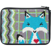 Stitch & Zip Needlepoint Coin Purse Kit-SZ212 Fox