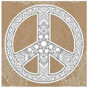 Diecut Colouring Cards -Peace Sign