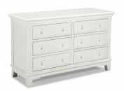 Westwood Design Jonesport 6 Drawer Double Dresser, White