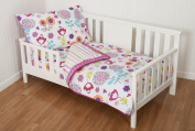 4 Piece Ink Sketch Floral Toddler Bedding Set by Sumersault