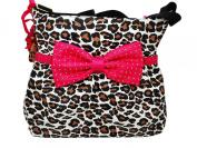 Betsey Johnson Cat's Meow Bow Tie Nappy Bag Purse Shoulder Handbag