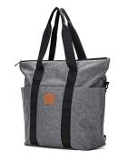 Yoovi Baby Nappy Tote Bags Shoulder Bag Mummy Bag Handbag Grey