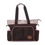 Yoovi Baby Nappy Tote Bags Shoulder Bag Mummy Bag Leopard Coffee