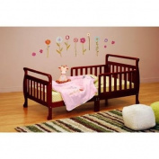 Athena Classic Sleigh Toddler Bed Has Beautifully Finished Hardwood And An Elegant Sleigh Design, Cherry