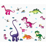 Dinosaurs Birds Wall Decal Home Sticker PVC Murals Vinyl Paper House Decoration WallPaper Living Room Bedroom Kitchen Art Picture DIY for Children Teen Senior Adult Nursery Baby