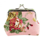 Sannysis Women Lady Retro Vintage Flower Small Wallet Hasp Purse Clutch Bag