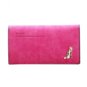 GBSELL New Women Girl High Heels Slim Coin Purse Leather Wallet Card Holders