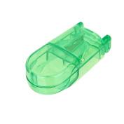 Pill Cutter Splitter Storage Compartment Box Medicine Holder Box Case - Green