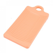 uxcell® Plastic Rectangle Washboard Washing Clothes Board 32cm Long Pink