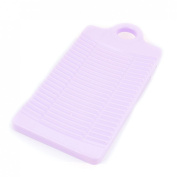 uxcell® Plastic Rectangle Washboard Washing Clothes Board 32cm Long Purple