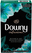 Downy Infusions Fabric Softener Sheets - Botanical Mist - 105 ct