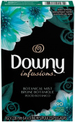 Downy Infusions Fabric Softener Sheets - Botanical Mist - 90 ct