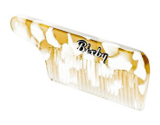 Bixby Beard and Moustache Comb Gold and White