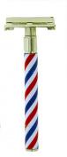 "Body Toolz Safety Shaving Razor ""Retro One"" The Barber Pole"