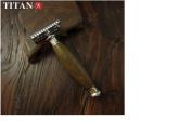 Safety Razor - Titan T style. Green Sandal Wood Handle. WM0016
