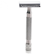 "The ""Dali"" Classic Stainless Steel Double Edge Safety Razor + 5 Stainless Steel Razor Blades From the Handlebar Shaving Company"