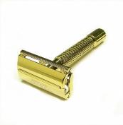 Double Edge Safety Razor -Elegant Gold 8.9cm By Edward London & Co.