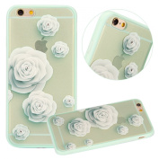 iPhone 6S Plus Case,iPhone 6 Plus Case,UZZO Colourful Flower Butterfly Plum Blossom Crystal Diamond Bling Hybrid Hard PC + Clear Soft TPU Silicone Bumper Case Cover for iPhone 6/6S Plus 5.5