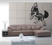 Howling Wolf Hunting Decor Wall Mural Vinyl Art Sticker M285