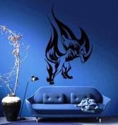 Wolf Howl in Flames Tribal Decor Wall Mural Vinyl Art Sticker M162