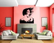 Sexy Woman Retro Wall Mural Vinyl Art Sticker M005