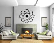 Atom Nuclear Science Chemistry Physics Wall Mural Vinyl Art Sticker M024