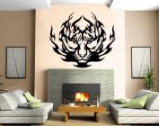 Tribal Tiger Flames Decor Wall Mural Vinyl Art Sticker M089