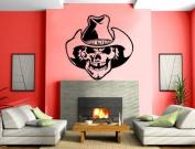 Skull Cowboy Hat Wall Mural Vinyl Art Sticker M050